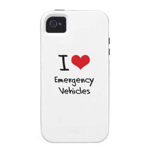 I love Emergency Vehicles Vibe iPhone 4 Case