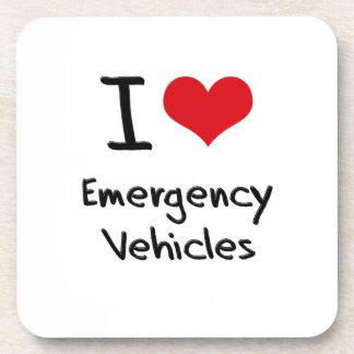 I love Emergency Vehicles Drink Coaster