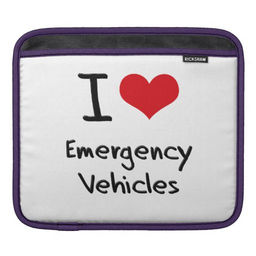 I love Emergency Vehicles iPad Sleeves