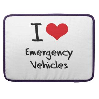 I love Emergency Vehicles Sleeve For MacBooks