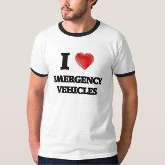 I love EMERGENCY VEHICLES Tee Shirts