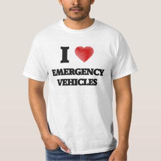 I love EMERGENCY VEHICLES Tshirt