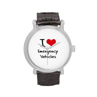 I love Emergency Vehicles Wristwatch