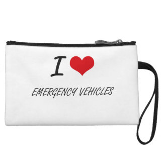 I love EMERGENCY VEHICLES Wristlet Clutches