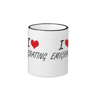 I love EMIGRATING Ringer Mug