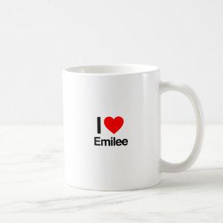 i love emilee basic white mug