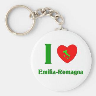 I Love Emilia-Romagna Italy Basic Round Button Key Ring