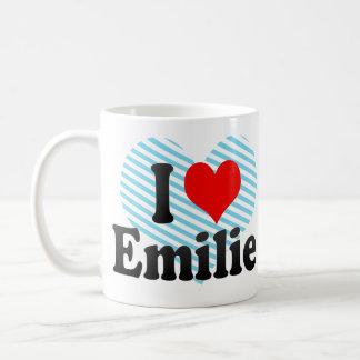 I love Emilie Basic White Mug