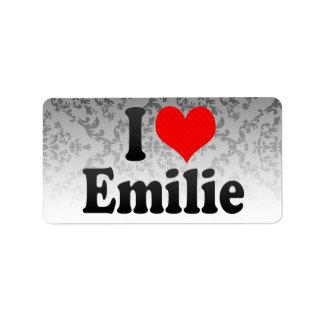 I love Emilie Address Label