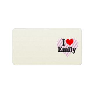I love Emily Address Label