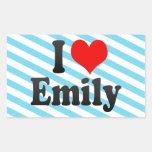 I love Emily Rectangular Sticker