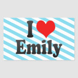 I love Emily Rectangular Stickers