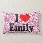 I love Emily Throw Pillows