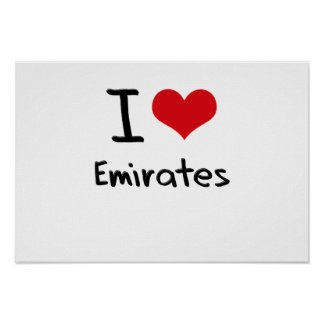 I love Emirates Print