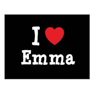 I love Emma heart T-Shirt Postcard