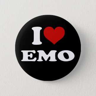 I Love Emo 6 Cm Round Badge