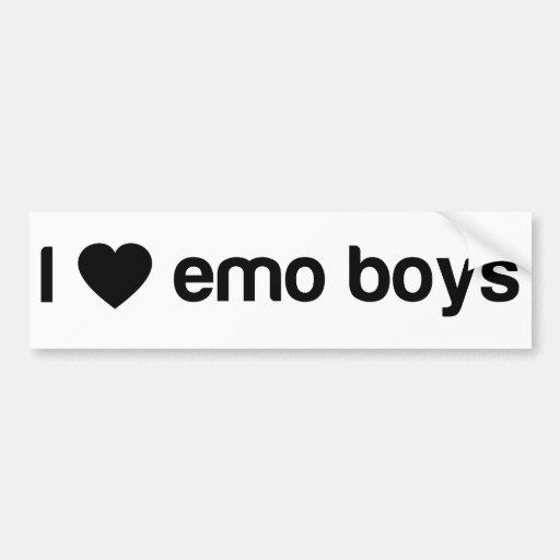 I Love Emo Boys Bumper Stickers