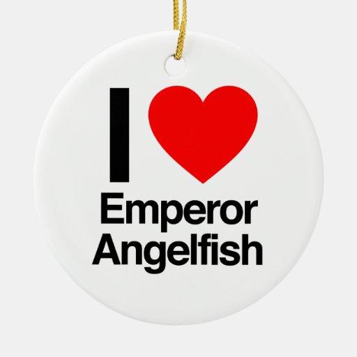 i love emperor angelfish christmas tree ornament