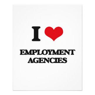 I love EMPLOYMENT AGENCIES 11.5 Cm X 14 Cm Flyer