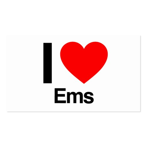 i love ems business card
