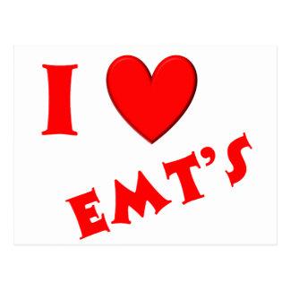I Love EMTs Postcard