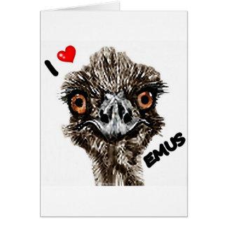 I LOVE EMUS CARD