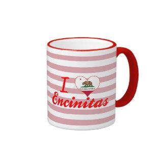 I Love Encinitas, California Ringer Mug