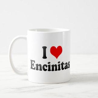 I Love Encinitas, United States Basic White Mug