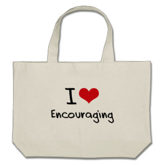 I love Encouraging Canvas Bags