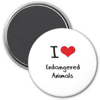I love Endangered Animals Fridge Magnets