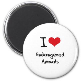 I love Endangered Animals Magnets