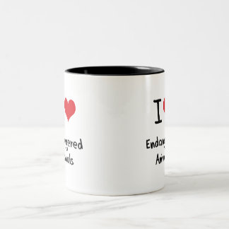I love Endangered Animals Coffee Mugs