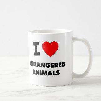 I love Endangered Animals Mugs