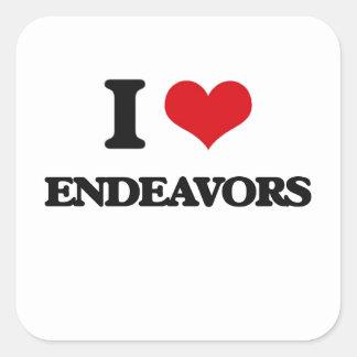 I love ENDEAVORS Square Sticker