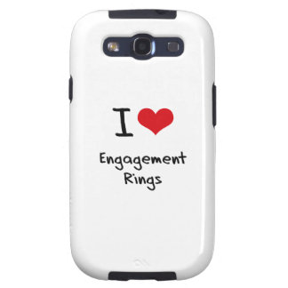 I love Engagement Rings Samsung Galaxy S3 Covers