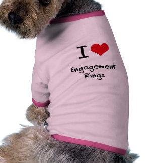 I love Engagement Rings Pet Shirt