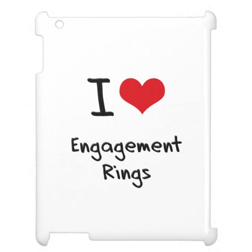 I love Engagement Rings iPad Covers
