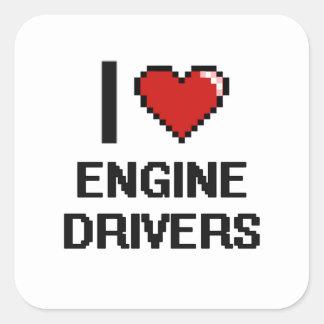 I love Engine Drivers Square Sticker