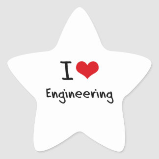 I love Engineering Star Stickers