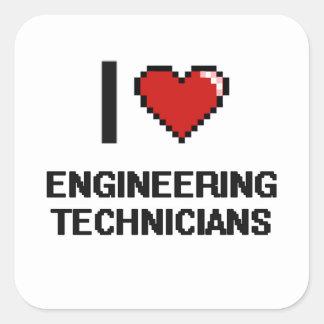 I love Engineering Technicians Square Sticker