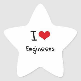 I love Engineers Star Sticker