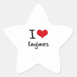 I love Engines Star Sticker