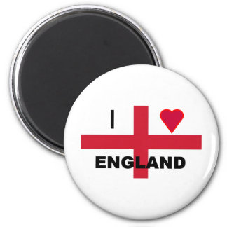 I Love England 6 Cm Round Magnet
