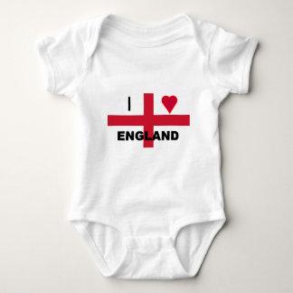 I Love England Baby Bodysuit