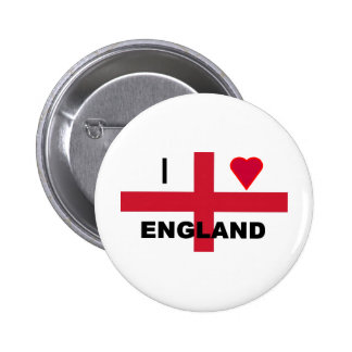 I Love England Buttons