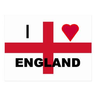 I Love England Post Card