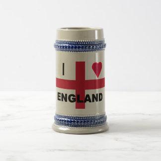 I Love England Stein Beer Steins