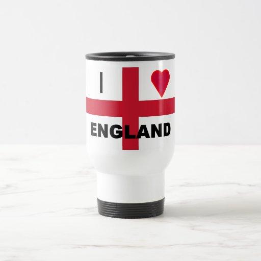 I Love England Travel Mug
