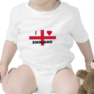 I Love England Rompers