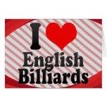 I love English Billiards Card